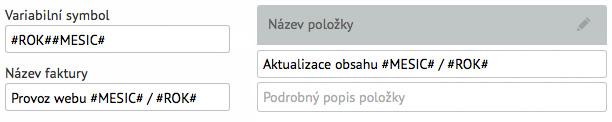 Použití zkratek v pravidelných fakturách v SuperFaktra.cz