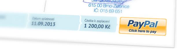 Paypal na faktuře