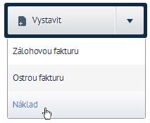 Dvěma kliknutími lze vytvořit z objednávky náklad