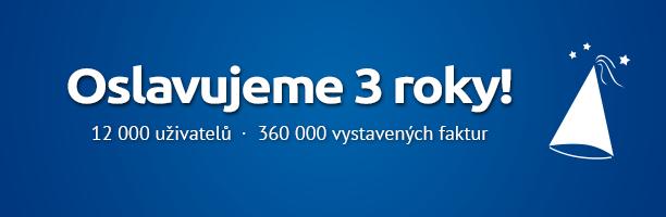 SuperFaktura.cz slaví 3 roky