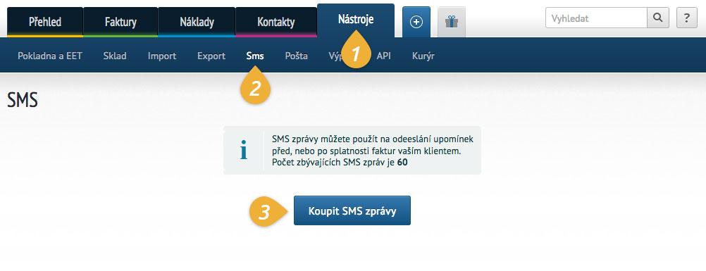 Nákup SMS